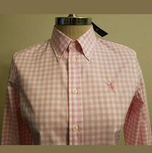 POLO RALPH LAUREN WOMEN'S SLIM FIT GINGHAM SHIRT